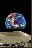 Earth From The Moon Lærredstryk på blindramme