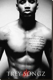 Trey Songz Music Poster Stretched Canvas Print
