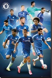 Chelsea- 15/16 Players Stretched Canvas Print