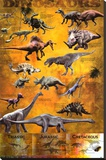 Dinosaurs Stretched Canvas Print