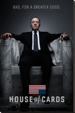 House Of Cards - Bad Lærredstryk på blindramme