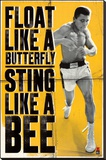 Muhammad Ali - Float like a Butterfly Stretched Canvas Print