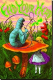 Alice in Wonderland Stretched Canvas Print
