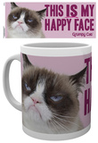 Grumpy Cat Happy Face Mug Taza