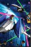 Star Fox 64- Space Battle Stretched Canvas Print