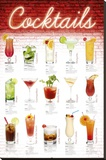 Cocktails - English Stretched Canvas Print