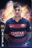 Barcelona- Neymar 15/16 Stretched Canvas Print