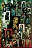 Bob Marley- Photo Collage Stretched Canvas Print