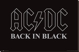 AC/DC Back In Black Stretched Canvas Print
