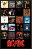 AC/DC Discography Stretched Canvas Print