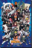Naruto Characters Stretched Canvas Print