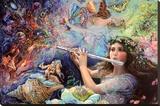 Enchanted Flute Opspændt lærredstryk af Josephine Wall