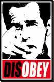 Disobey Stretched Canvas Print