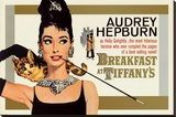 Audrey Hepburn - Breakfast at Tiffany's Stretched Canvas Print