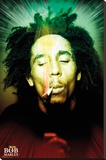Bob Marley Smoking Portrait Stretched Canvas Print