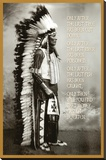 Chief White Cloud (Native American Wisdom) Art Poster Print Reproduction sur toile tendue