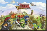 The Legend of Zelda- Triforce Heroes Stretched Canvas Print