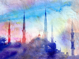 Blue Mosque Art by  tanor27