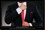 Awesomeness Motivational Poster Impressão em tela esticada