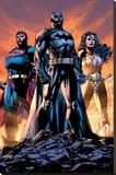 DC Comics - Justice League Trio Reprodukce na plátně