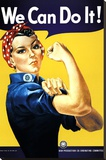 Yaparız Biz! (Perçinci Rosie) (We Can Do It! (Rosie the Riveter)) - Şasili Gerilmiş Tuvale Reprodüksiyon