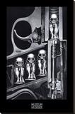 Máquina de nacimiento Reproducción en lienzo de la lámina por H. R. Giger