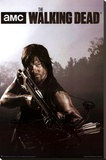 The Walking Dead Season 4 Daryl Stretched Canvas Print