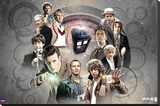 Doctor Who - Doctors Collage Stretched Canvas Print