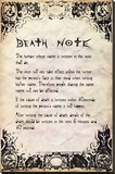 Deathnote - Rules Stretched Canvas Print