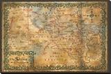 The Hobbit - Desolation of Smaug Map of the Shire Kunstdruk op gespannen doek