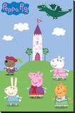 Peppa Pig Fairytale Reproducción en lienzo de la lámina