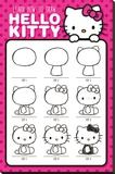 Hello Kitty (How To Draw) Stretched Canvas Print