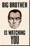 Big Brother is Watching You 1984 Poster Stretched Canvas Print