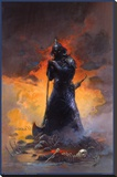 Death Dealer Three Stretched Canvas Print by Frank Frazetta