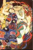 Gustav Klimt - Gustav Klimt Virgin Art Print Poster - Şasili Gerilmiş Tuvale Reprodüksiyon