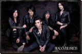 Black Veil Brides Group Sit Stretched Canvas Print