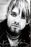 Kurt Cobain - Face & Signature Stretched Canvas Print