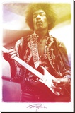 Jimi Hendrix-Legendary Kunst op gespannen canvas