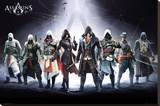 Assassins Creed Characters Reproduction sur toile tendue