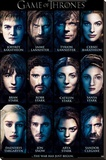 Game of Thrones Characters Stretched Canvas Print