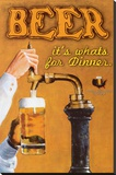 Beer: It's What's for Dinner Stretched Canvas Print by Robert Downs