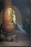 Egyptian Princess Stretched Canvas Print by Frank Frazetta