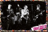 Sex Pistols On Stage Stretched Canvas Print
