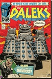 Doctor Who-Daleks Comic Cover Stretched Canvas Print