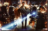 Doctor Who - Flames Stretched Canvas Print