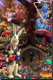 Down the Rabbit Hole - Alice in Wonderland Stretched Canvas Print