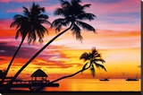 Velavary Sunset Art Print Poster Stretched Canvas Print