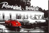 Rosie's Diner - Şasili Gerilmiş Tuvale Reprodüksiyon