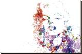 Marilyn Monroe - Paint Splatter Pop Art Stretched Canvas Print