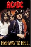 AC/DC- Highway To Hell Bedruckte aufgespannte Leinwand